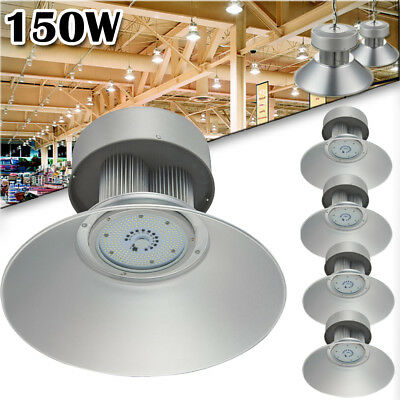 5x 150W LED High Bay Lamp Commercial Warehouse Industrial Factory Shed Light US