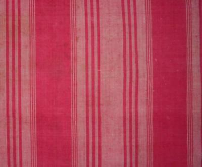 BEAUTIFUL EARLY 19th CENTURY WOVEN MADDER PINK LINEN COTTON, DOLLS PROJECTS REF
