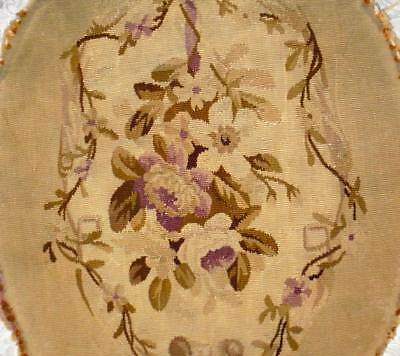 BEAUTIFUL EARLY 19th CENTURY FRENCH AUBUSSON TAPESTRY PANEL, ROSES