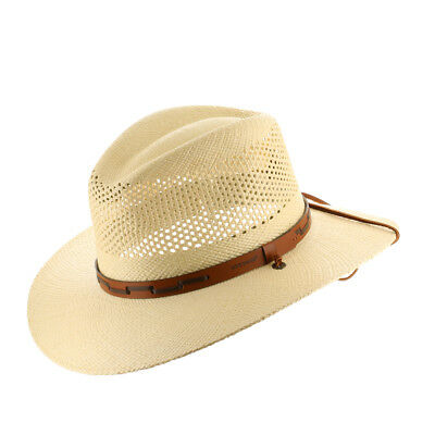 2f88cd23237 STETSON OUTBACK VENTED Mens Straw Panama Hat -  89.99