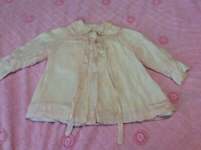 Antique Child's / Baby Victorian Pale Pink Silk Jacket Fully Lined Embroidered
