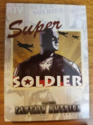 2011 Upper Deck Captain America The First Avenger #P-4 Poster Card Super Soldier