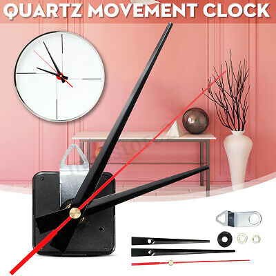 Wall Quartz Silent Clock Movement Mechanism Module DIY Set Kit 3 Hand Fitting