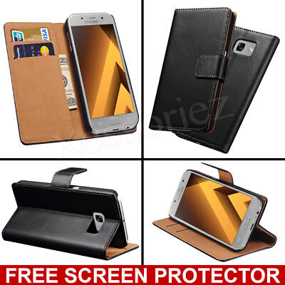 Luxury Genuine Real Leather Flip Case Wallet Cover For Samsung Galaxy Phones