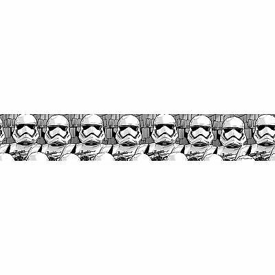Star Wars Stormtrooper Self Adhesive Wallpaper Border 5M Long Kids Bedroom New