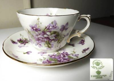 Hammersley VICTORIAN VIOLETS Large OVERSIZED Cup and Saucer