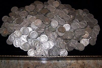 Buffalo Nickel Large Lot of 487 Coins Full Dates