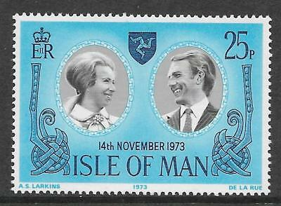 ISLE OF MAN 1973 ROYAL WEDDING 1v MNH