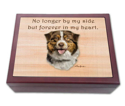 Australian Shepherd Ash Cremation Memorial Box