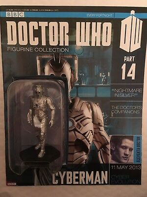 Bbc Series Doctor Who Dr Issue 14 Cyberman Eaglemoss Figurine + Magazine