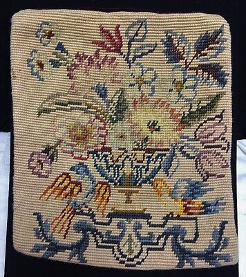 ANTIQUE VICTORIAN WOOL NEEDLEPOINT PILLOW COVER for buyer shirleydaewoo ONLY!