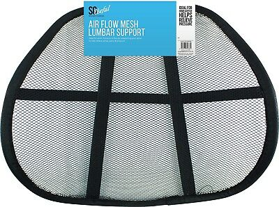 Lumbar Support Air Flow Mesh for Back Ache Pains Office Car Chair Spine Support