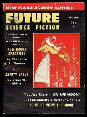 Future Science Fiction #44 Aug 1959 Pulp Digest Asimov Article Brian Aldiss FN-