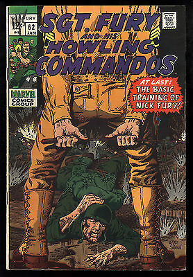 Sgt. Fury (1963) #62 & His Howling Commandos Dick Ayers & John Severin Art Fine