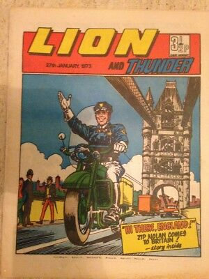 LION AND THUNDER UK COMIC. 27th January 1973. FREE UK POSTAGE.