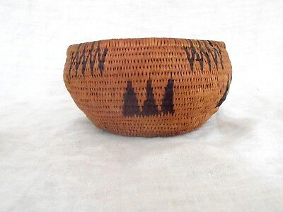 Antique Washoe Degikup Basket bear claw design great patina and color  C 1900