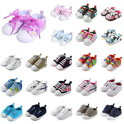 Newborn Baby Infant Toddler Boys Girls Soft Sole Crib Shoes Anti-slip Sneaker