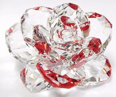 Rose - Flower Clear Crystal Petals Reflects Red 2017 Swarovski Crystal   5249251