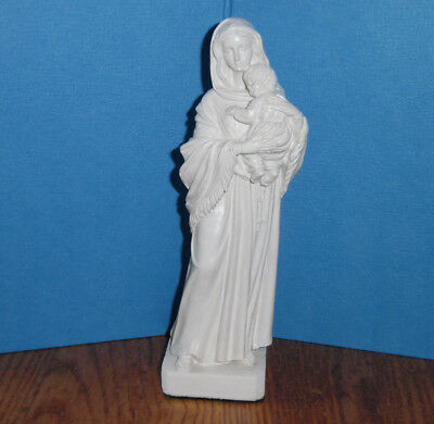 """8""""  Madonna And Child Figurine Virgin Mary Holding Baby Jesus Statue polyresin"""
