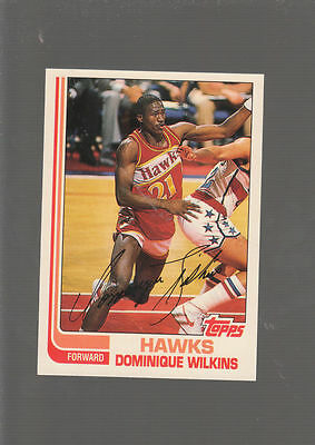 DOMINIQUE WILKINS Topps First ROOKIE card! ATLANTA HAWKS NBA Rc MINT