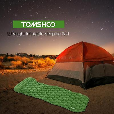 Ultralight Inflatable Camping Mat Outdoor Mattress ​Sleeping Pad Pillow J7Y6
