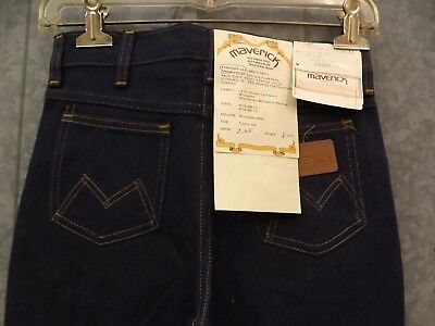 Vtg NEW Durable Maverick Western Denim Jeans Prewashed Straight Leg Boys 12 Reg