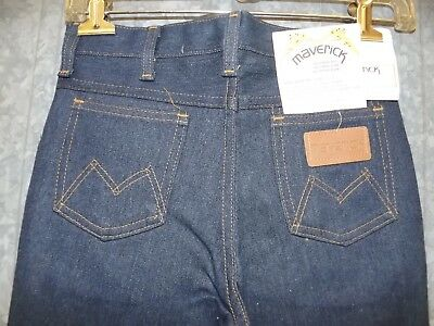 Vtg NEW Maverick Western Denim Jeans Prewashed Flare Boot Cut Boys Girls 12 Reg