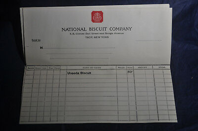 (4) National Biscuit Company UNEEDA Biscuit Receipts, Troy, NY
