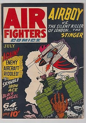 Air Fighters Comics Vl. 1 #10 Vf- Condition 1943 Golden Age Airboy! Wwii Cover!