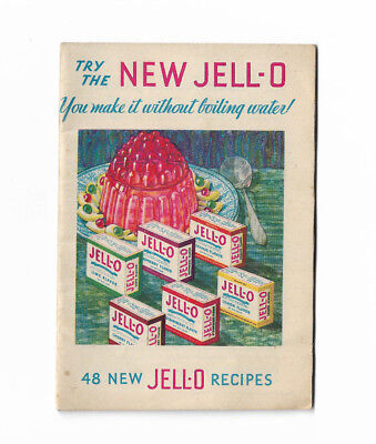Vintage 1932 Jello 48 New Jell-O Recipes Advertising Booklet Cookbook