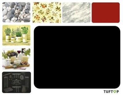 Tuftop Glass Wortkop Saver Protector Chopping Board Textured Smooth Black etc