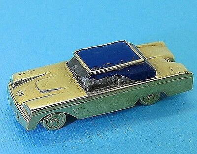 Vintage 14k gold 1965 FORD THUNDERBIRD 1960's CAR MOVABLE charm 1958 / 1959 1960