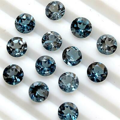 Lot of 4x4mm Round Facet AAA Natural London Blue Topaz Loose Calibrated Gemstone