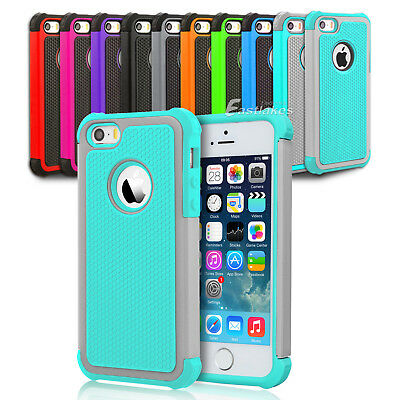 New Shockproof Case Heavy Duty Tough Hard Armor Cover for Apple iPhone 5S 5 SE