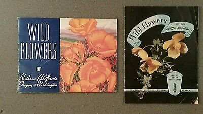 2 Vtg Richfield Gasoline Company Wild Flowers Booklets 1937 & 1939 Colorful Nice