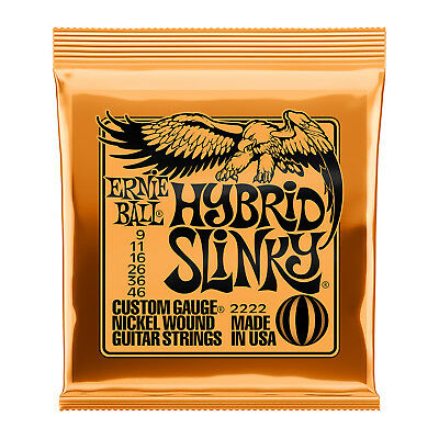 Ernie Ball 2222 Electric Guitar Strings Hybrid Slinky 9-46 - New