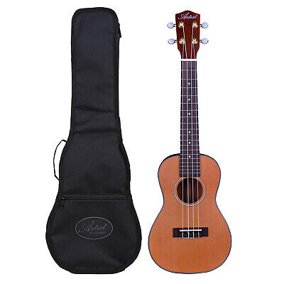 Artist UKC200 Ukulele, Solid Top, Concert Size + Bag - New