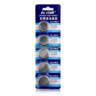 CR2450 DL2450 BR2450 LM2450 5029LC 3V Button Coin Cell Battery Bulk Lot 5 Pcs 1
