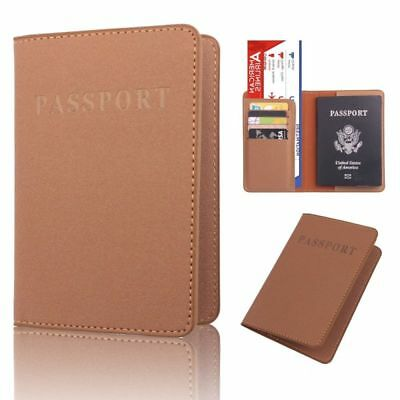 Multifunctional Passport ID Card Holder Frosted PU Leather Travel Ticket Holder