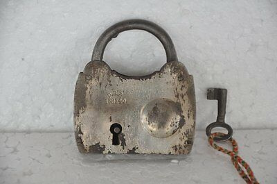 Old Iron Unique DRF 158340 Flat Handcrafted Bell System Padlock