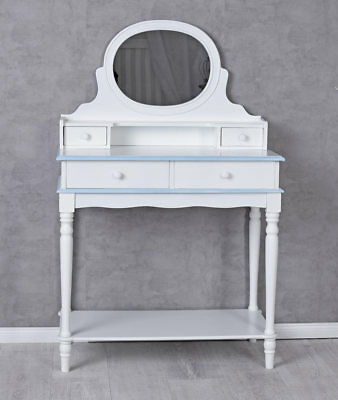 Vintage dressing table cosmetic table make-up table white console with mirror