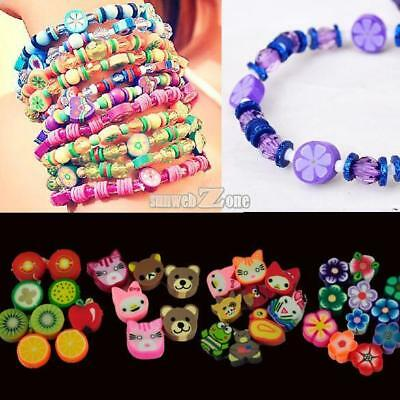 100 PCS Clay Beads DIY Slices Mixed Color Fimo Polymer Clay RR6 03