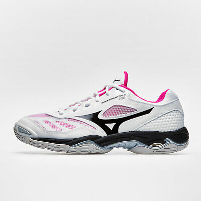 Mizuno Womens Wave Phantom 2 Netball Trainers Sports Shoes White Training