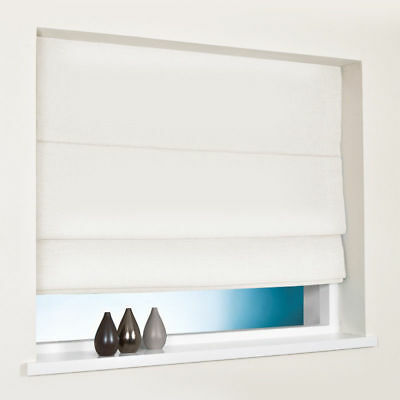 100% Cotton Roman Blind - Natural - Any Size £5.99!