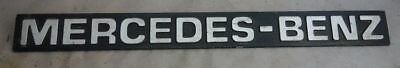 altes Auto Emblem Typenschild Metall Mercedes Benz