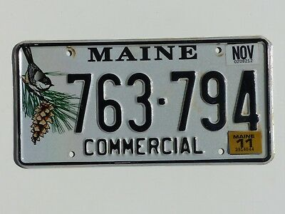 Used 2011 Maine Commercial Truck License Plate # 762-794 Chickadee Design