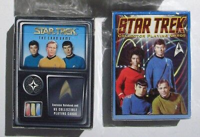 Lot of 2 NEW SEALED Decks Star Trek TOS Sealed Collector Playing Cards Card Game