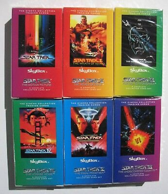 Star Trek SkyBox Cinema Collection Trading Cards 6 Complete Sets II III IV V VI
