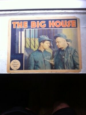 The Big House 1930 Original Lobby Card Chester Morris & Wallace Beery- Pre-Code