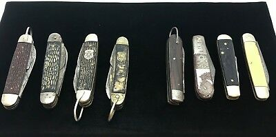 Mixed Lot of x8 Vintage Pocket Knives. Includes 2 & 4 Blade. Boy Scout Knives